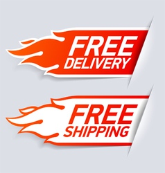 Free Delivery and Shipping labels vector image
