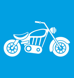 motorcycle icon white vector image vector image