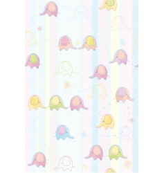 seamless cute pattern of baby vector image vector image