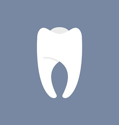 White Tooth on a dark background for dentis vector image