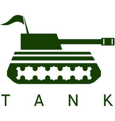 abstract design template of tank with flag vector image