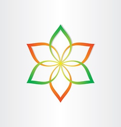 abstract flower icon design element vector image