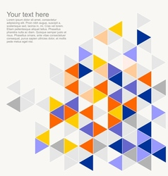 Geometric mosaic triangle card document template vector image