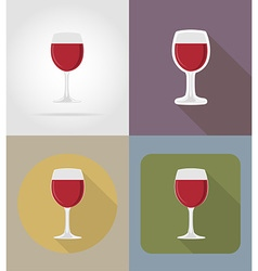 objects for food flat icons 09 vector image