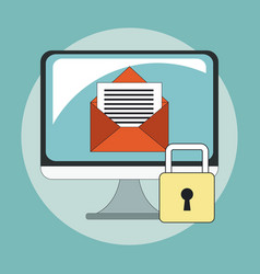 secure mailing for computer vector image vector image