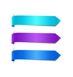 set of blue decorative ribbons vector image vector image
