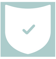 shield the white color icon vector image