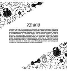 Sport banner white and black vector image vector image