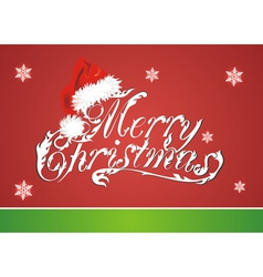 Christmas card with Red Santa Claus Red Hat vector image