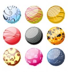 decorative balls vector image