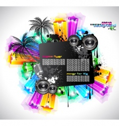 disco event background vector image vector image