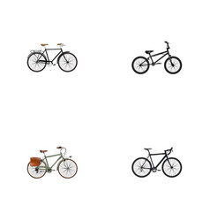 realistic working fashionable cyclocross drive vector image