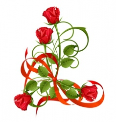 roses vector image vector image