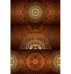 Set of brown vintage floral backgrounds vector image vector image