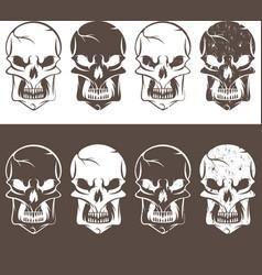 set of skulls design template vector image