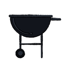 silhouette bbq grill party american football vector image