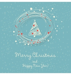 with Christmas tree vector image vector image