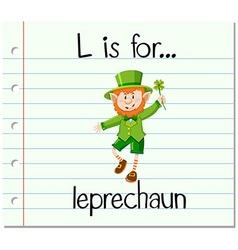 Alphabet l is for leprechaun vector
