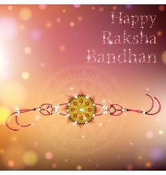 Happy Raksha Bandhan celebration vector image vector image
