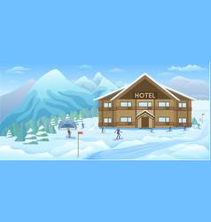 winter resort background vector image