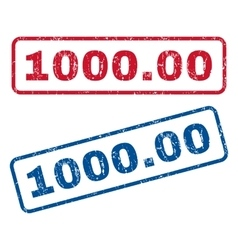 100000 Rubber Stamps vector image