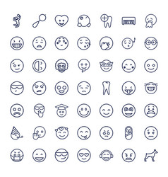 49 smile icons vector