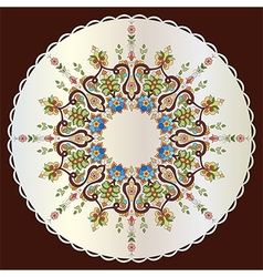 Antique ottoman turkish pattern design seventy vector image