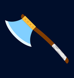 axe icon label of fantasy and medieval weapon vector image