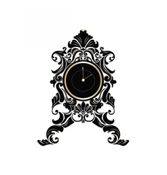 Baroque Classic Round Golden clock vector image