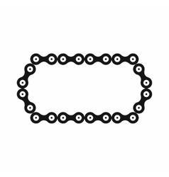 Bicycle chain icon simple style vector