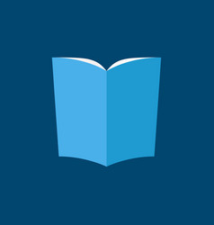 blue book icon in flat style vector image