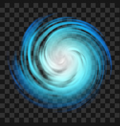 blue hurricane symbol on transparent background vector image