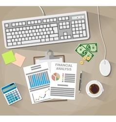 Business analysis and planning financial report vector