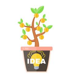 business concept idea is profitable vector image