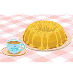 cake and coffee vector image