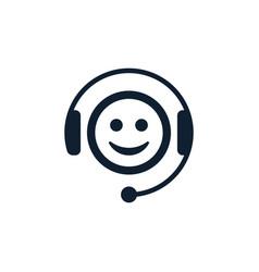 call center emoticon vector image