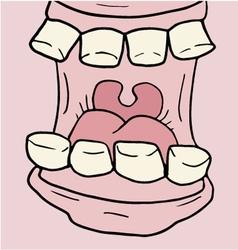 Cartoon open mouth vector