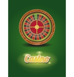 Casino roulette wheel vector