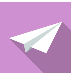 Colorful paper plane icon in modern flat style vector
