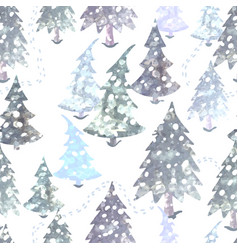 Colorful seamless pattern with christmas tree vector