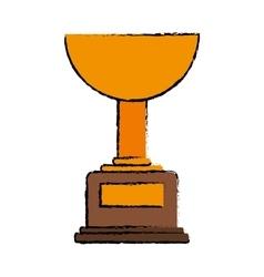 Drawing trophy winner award american football vector