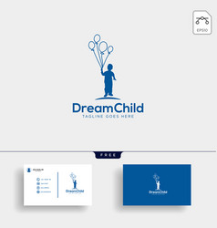 dream child creative logo template with business vector image