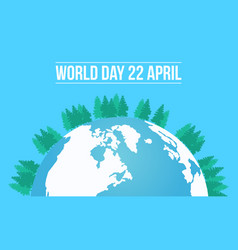 Earth day with tree and world vector