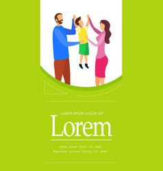 Family time together brochure template vector