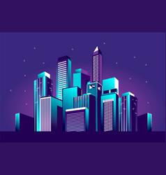 Festive neon city vector