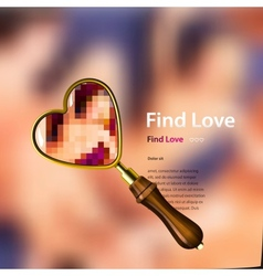 Find love vector image