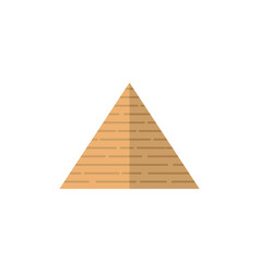 Flat egypt pyramid icon vector