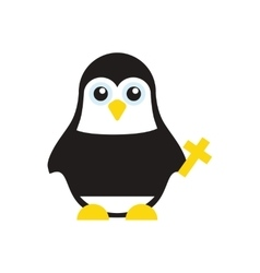 Flat icon on white background penguin cartoon vector
