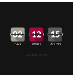 Flip Countdown timer clock counter Flat vector