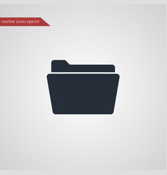 Folder icon simple vector